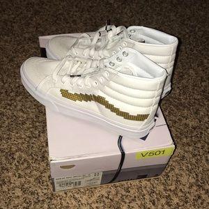 Vans x Nintendo white high-top sneakers